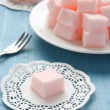 ������, ������: Homemade pink marshmallows selective focus