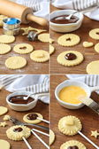 Pie pops with cocolate step by step — Stock Photo