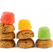 Typical dutch sweets for Sinterklaas - pepernoten (ginger nuts) — Stock Photo