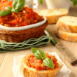Stock Photo: Open sandwiches with eggplant salad (caviar), ukrainifood