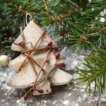 Christmas composition with christmas tree — Stock Photo