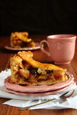 Slice of homemade dutch apple pie, appeltaart — Stockfoto