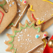 Stock Photo: Homemade christmas animal-shaped cookies with icing.