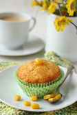 Homemade gluten-free muffins from corn flour — Stock Photo
