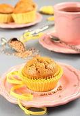 Homemade gluten free muffins from buckwheat flour — Stock Photo