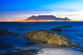 Table mountain sunset — Stock Photo