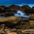 Rocks with incoming waves — Stock Photo