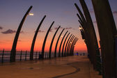 Umhlanga Pier sunrise — Stock Photo