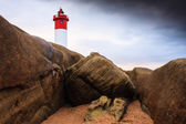 Lighthouse on Rocks — Stock Photo