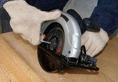 Daire testere bıçağı ayarlama — Stok fotoğraf