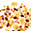 Mixed nuts, dried and candied fruits — Stock Photo