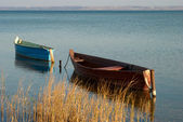 Boats on the lake — Stok fotoğraf