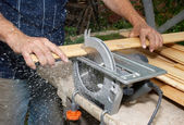 Wood cutting — Stockfoto