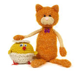 Two knitted toys — Stock Photo