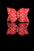 Red holiday bow — Stock Photo