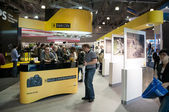 Visitors look at new products on Nikon stand — Stock Photo
