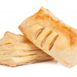Two pieces of puff pastry — Stock Photo #13862304