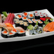 Royalty-Free Stock Photo: Assortment of rolls, sushi and sashimi