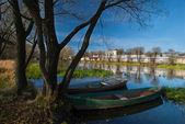 Otoño vista cerca del río — Foto de Stock