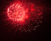 Red fireworks — Stock Photo