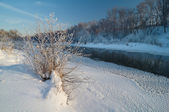 川に寒い朝 — ストック写真