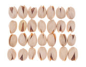 Pistachios placed in order — Stock Photo