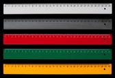 сантиметр правители — Стоковое фото