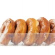 Donuts in the plastic case — Stock Photo #46729979