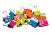 Heap of binder clips — Stock Photo
