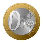 Euro font D — Stock Photo