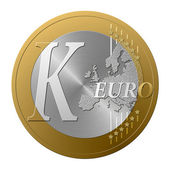 Euro font K — Stock Photo