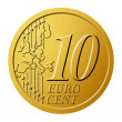 Stock Photo: 10 euro cent
