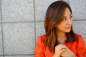 Asian Young Business Woman's Portrait — Stock Photo