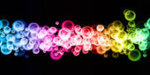 Rainbow bubbles background — Stock Photo