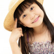 Royalty-Free Stock Photo: Beautiful asian little girl thinking