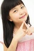 Belle petite fille asiatique — Photo