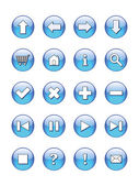 Web buttons icons, signs — Stock Vector