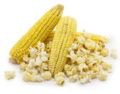 Corn and popcorn — Stock Photo
