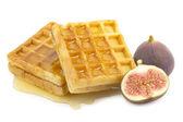 Figs, waffle — Stock Photo