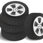 Set of tires — Stock Vector