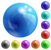 Colored balls — Stock Vector