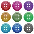 Stock Vector: Buttons for garments