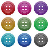 Buttons for garments — Stock Vector