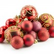 New Year, Christmas balls, decorations and gifts — Stok fotoğraf