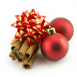 New Year, Christmas balls, decorations and gifts - Foto Stock