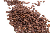 Coffee beans background, black coffee — Stock Photo
