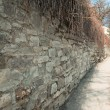 Long stone wall — Stock Photo