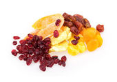 Dried fruit pineapple, lemon, walnut, cranberry — Stock Photo