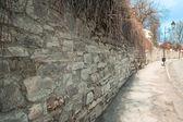 長い石の壁 — ストック写真