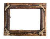 Wooden picture frame — Stock Photo